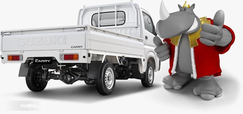 Gambar menunjukkan tampilan belakang New Suzuki Carry Pick Up 2019