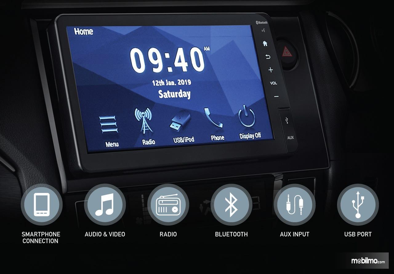Gambar menunjukkan fitur Audio System Baru New Honda BR-V 2019