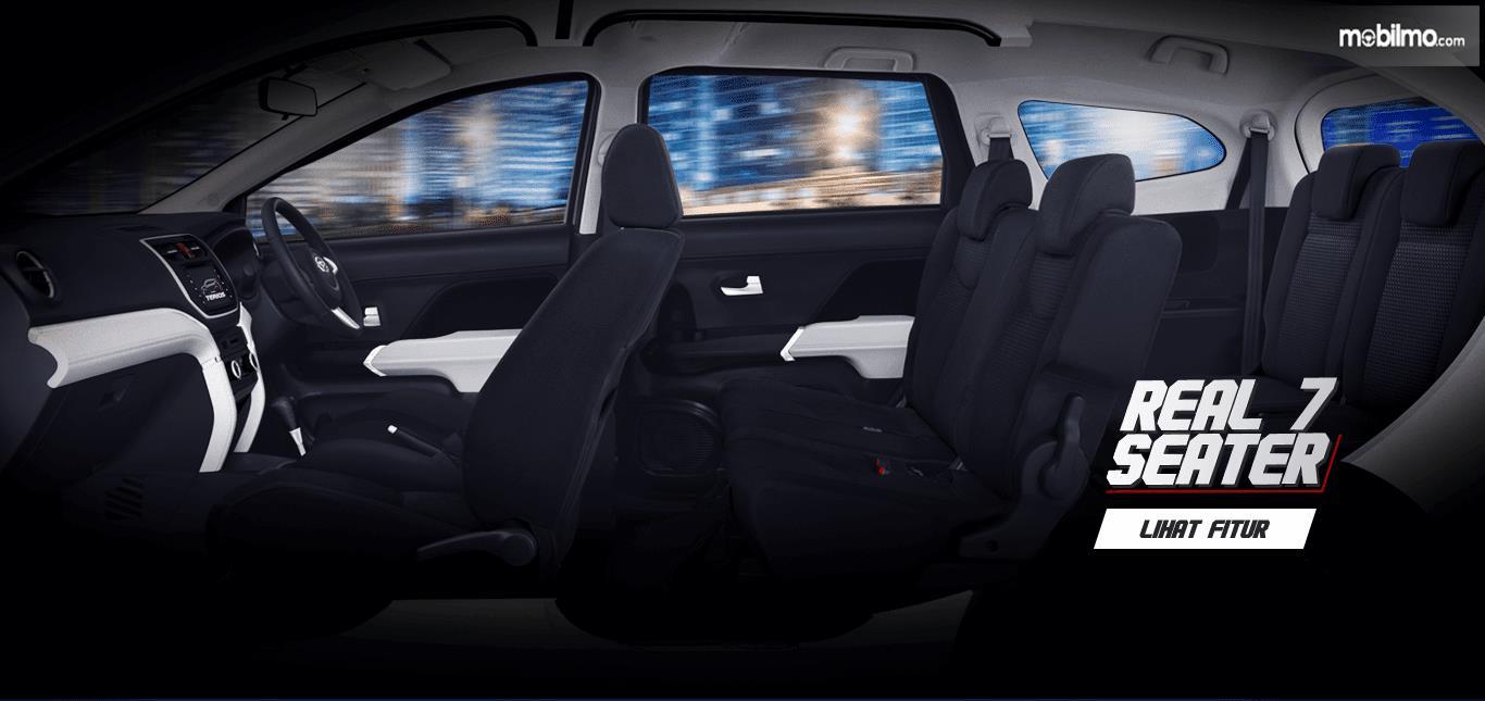 Konfigurasi kursi Daihatsu Terios R AT Deluxe 2018