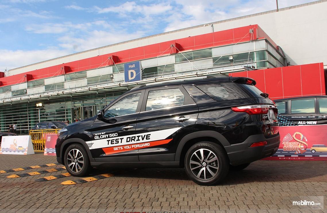 Foto unit Test Drive Glory 560 di pameran Telkomsel IIMS 2019