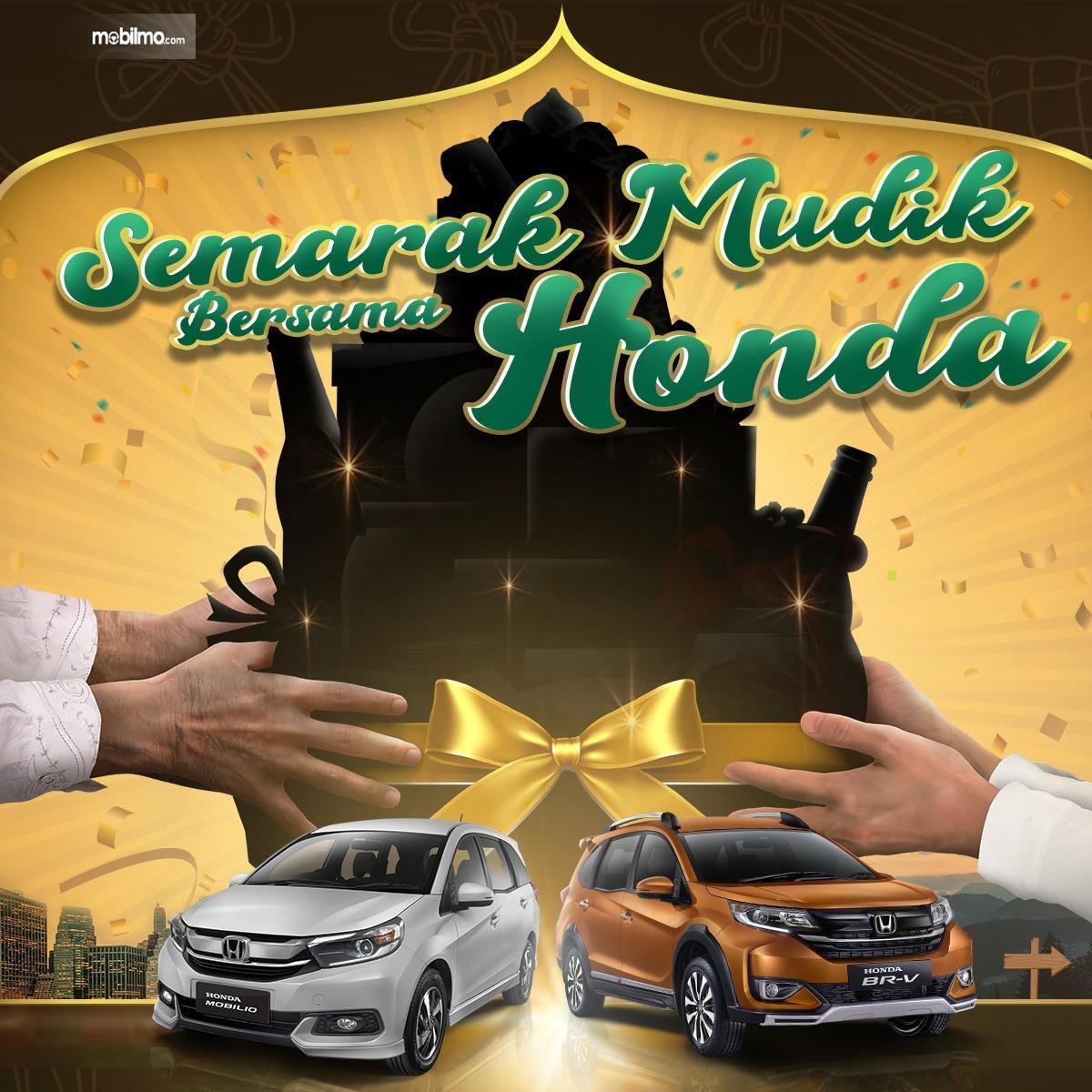 Banner Semarak Mudik bersama Honda khusus Honda Mobilio dan Honda BR-V