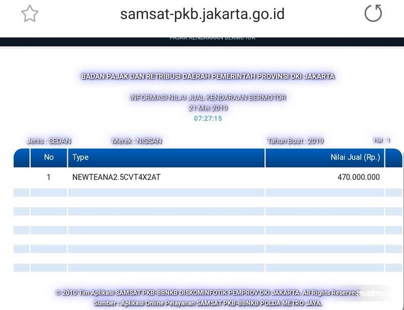 Gambar ini menunjukkan Gambar situs Samsat PKB Jakarta