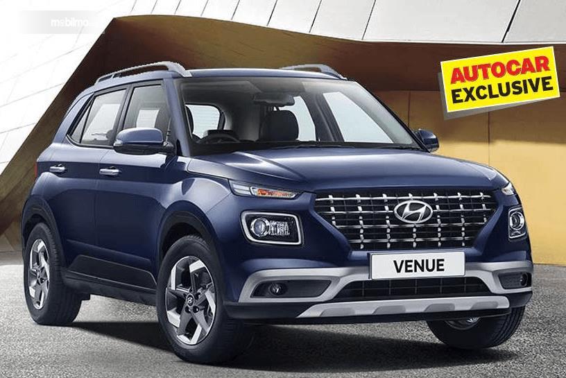 Gambar ini menunjukkan bagian depan dari Hyundai Venue 2019