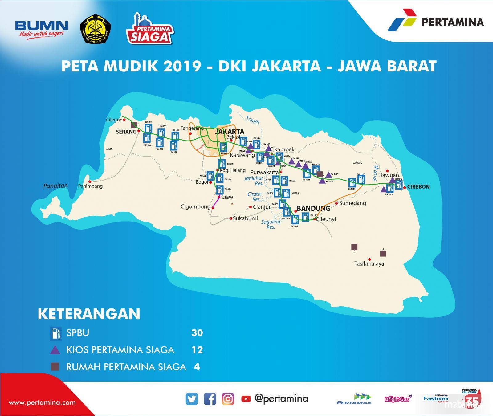 Peta Pertamina Siaga wilayah Provinsi Jawa Barat
