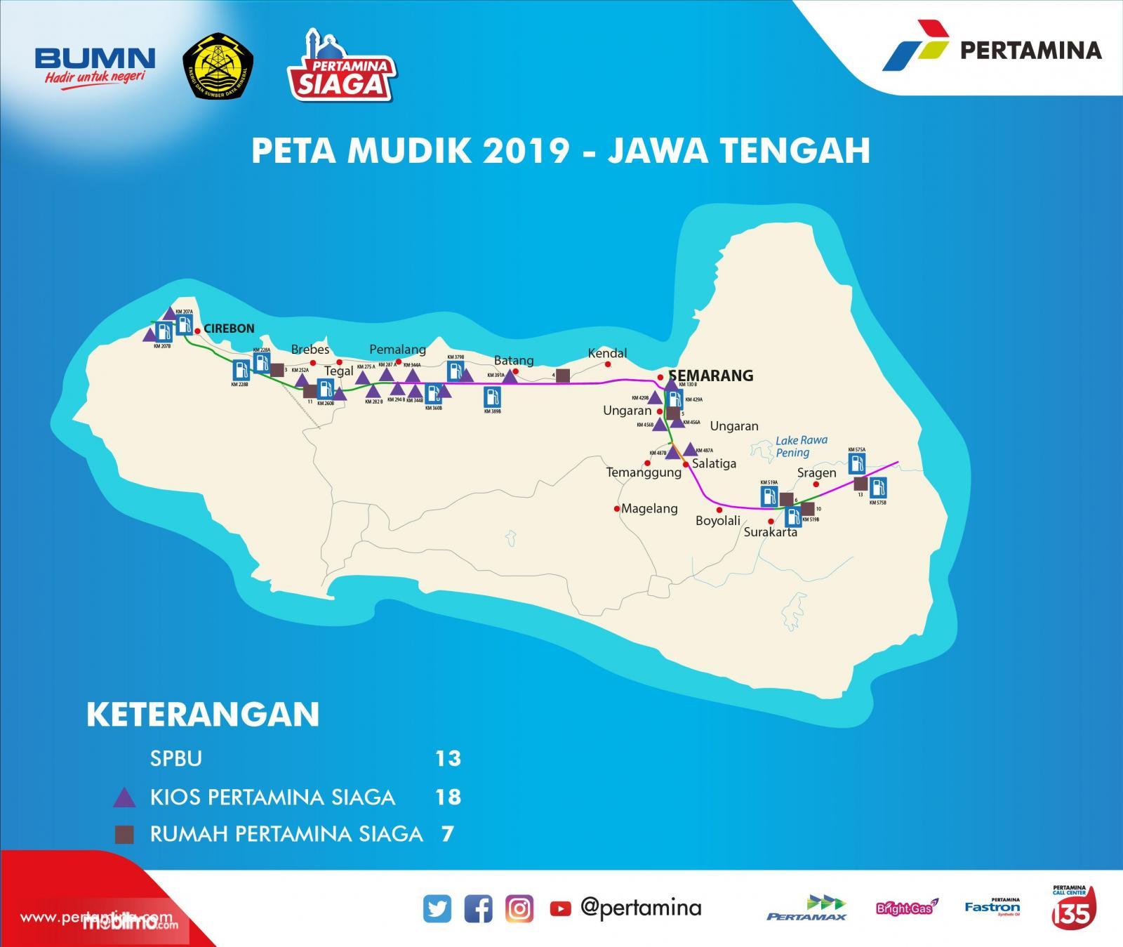 Peta Pertamina Siaga wilayah Provinsi Jawa Tengah