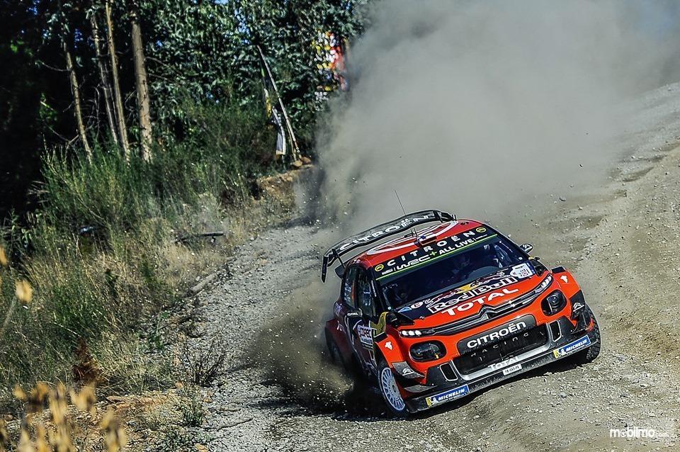 Tampak Sebastien Ogier dengan Citroen C3 WRC