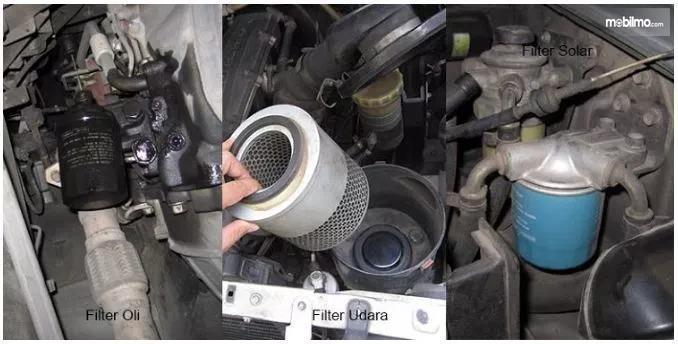 Tampak membuka filter udara dan filter oli