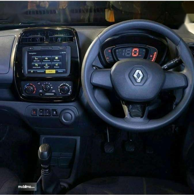 Gambar menujukkan Layout dasbor mobil Renault Kwid 2016