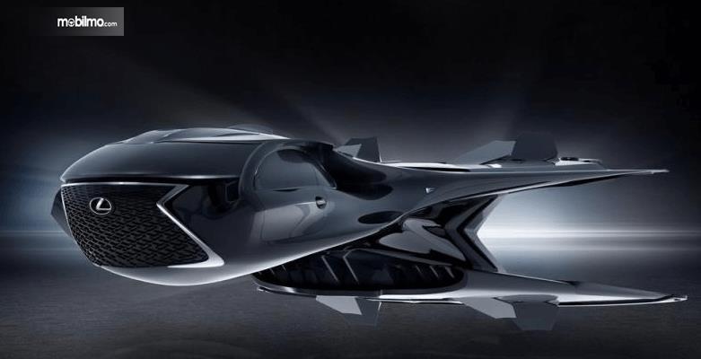 Gambar ini Perubahan mobil Lexus menjadi  jet QZ 618 Galactic Enforcer