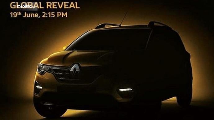 Gambar ini menunjukan selebaran kehadiran Mobil MPV Renault Triber