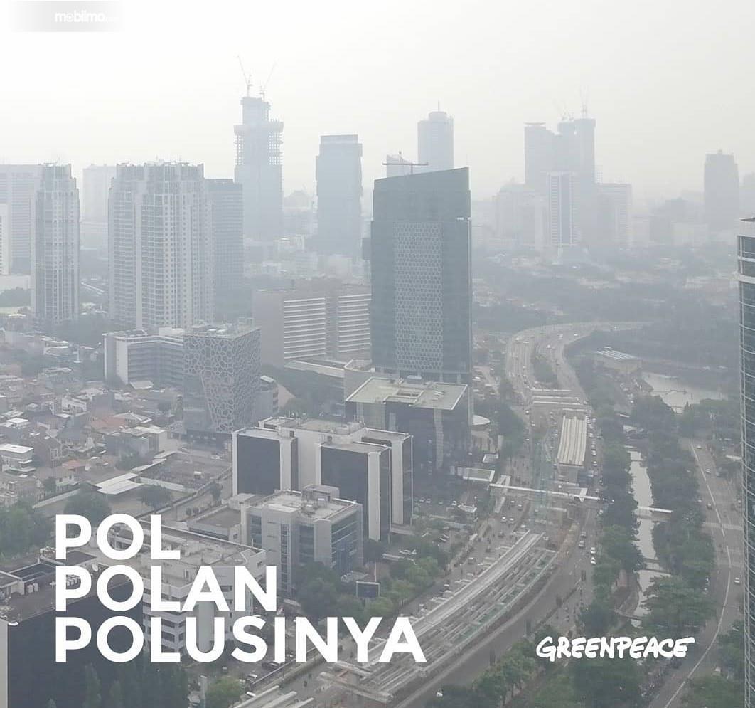 Foto menunjukkan Kondisi udara di Jakarta