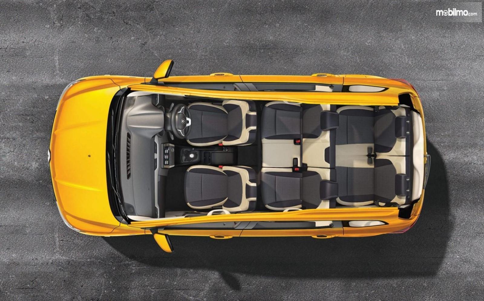 Foto Konfigurasi seater Renault Triber yang bisa memuat 7 penumpang