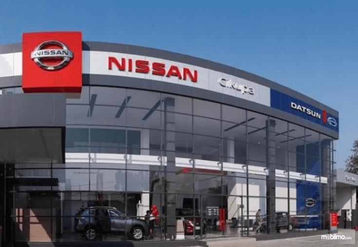 Gambar ini menunjukkan diler Nissan Datsun di Cikupa, Tangerang, Banten