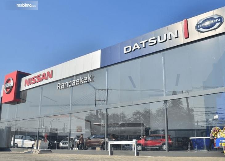 Gambar ini menunjukkan diler Nissan Datsu di Rancaekek Bandung