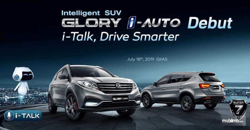 Gambar ini menunjukkan brosuk mobil besutan DFSK yaitu Glory i-Auto