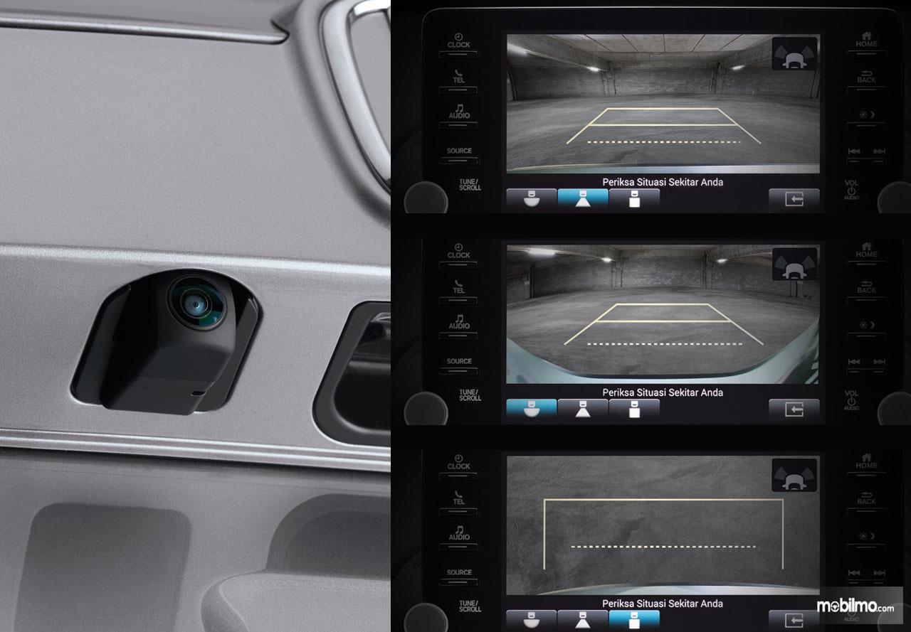 Foto menunjukkan tampilan Kamera All New Honda Accord dari berbagai sisi