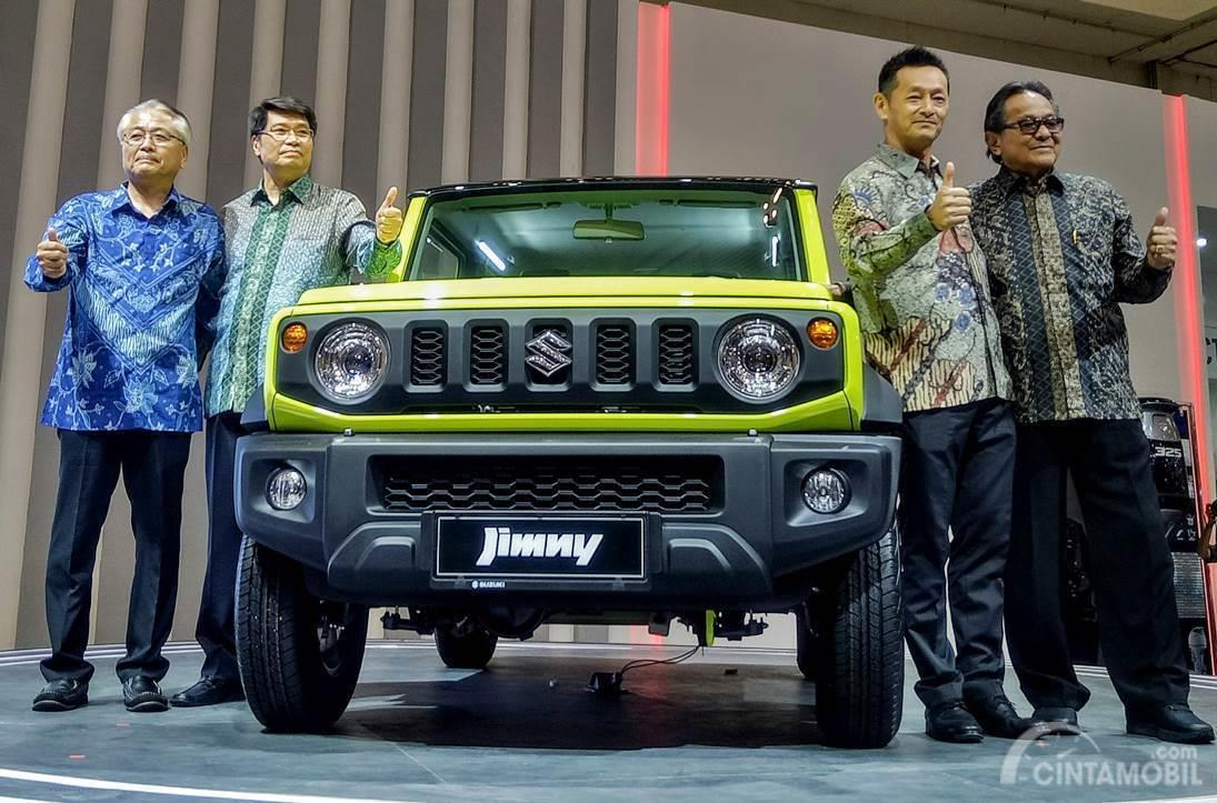 Foto saat Suzuki Jimny terbaru diluncurkan di pameran GIIAS 2019, tampilannya cukup menggoda