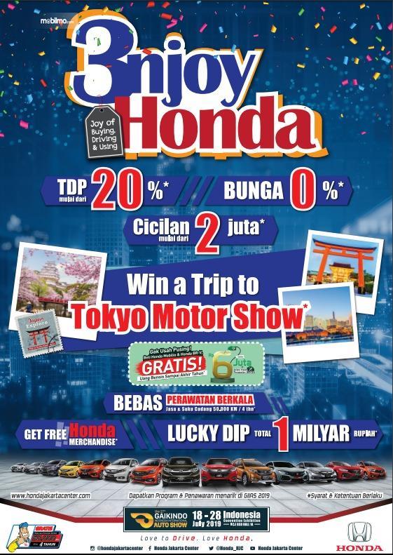 Banner promosi Honda di pameran GIIAS 2019, BSD City, Tangerang Banten