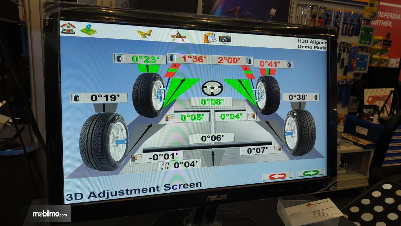 Gambar Menunjukkan Wheel Alignment