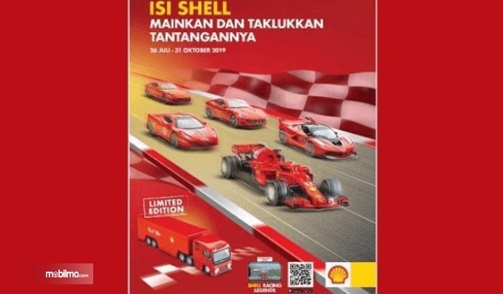 Gambar ini menunjukkan selebaran tentang program promo Shell