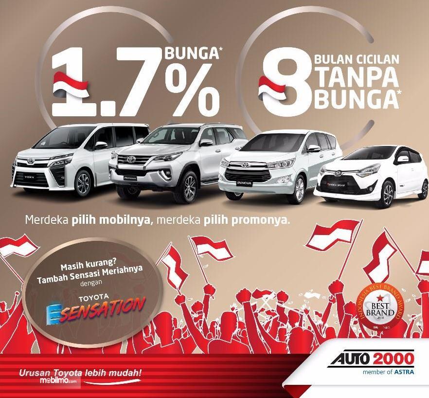 Banner Spesial Program MERDEKA dari Auto2000 - khusus bulan Agustus 2019