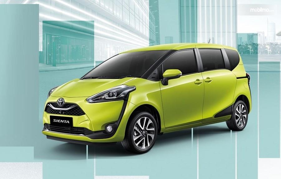 Foto Toyota Sienta Facelift 2019 di laman resmi Toyota Thailand