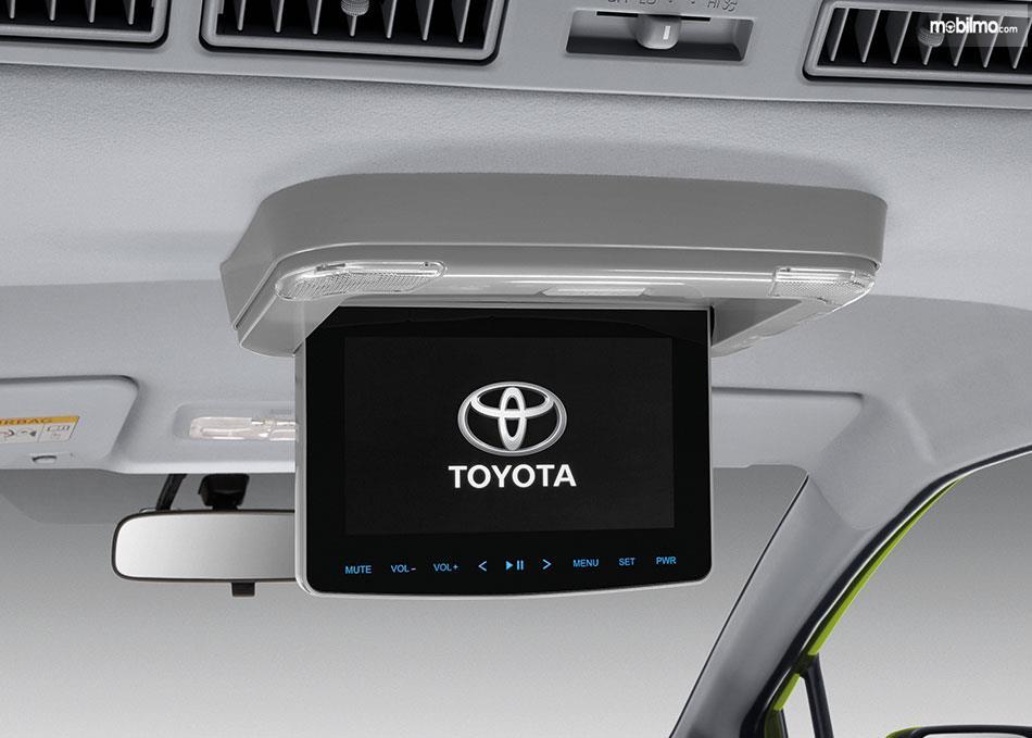 Foto menunjukkan Roof Monitor pada Toyota Sienta facelift 2019