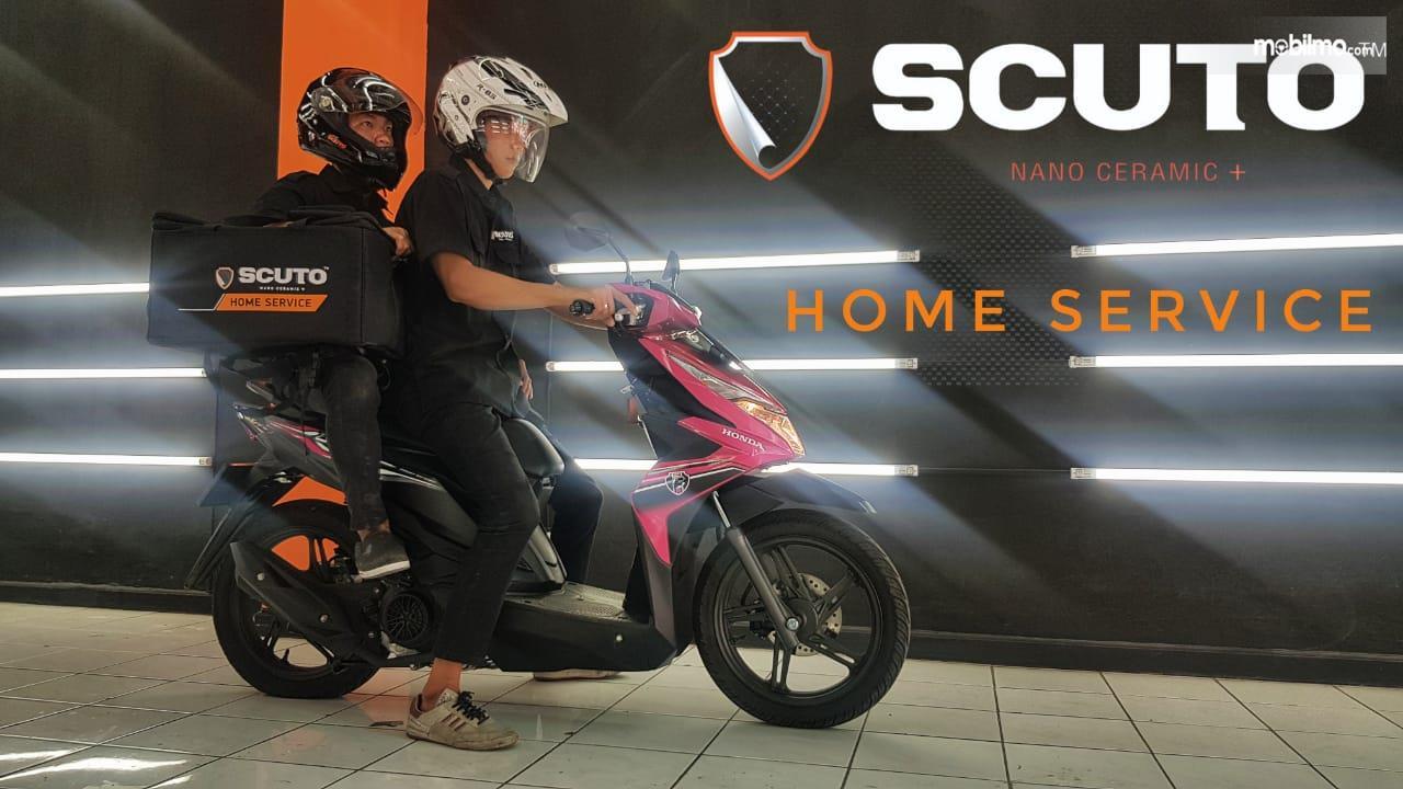 Layanan Poles Mobil Scuto Lampung bisa dipesan secara Home Service