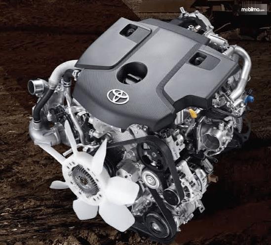Gambar ini menbunjukkan ilustrasi mesin mobil pada Toyota Hilux Single Cabin 2015