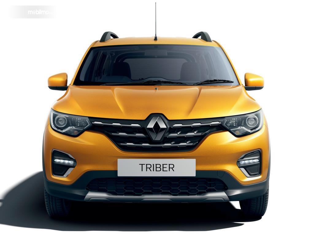 Foto bagian depan Renault Triber 2019 yang terlihat cukup menarik