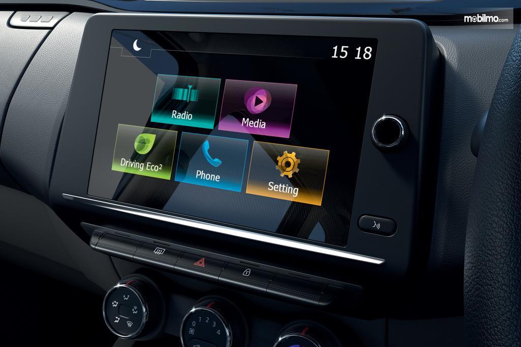 Foto menunjukkan Entertainment Renault Triber 2019