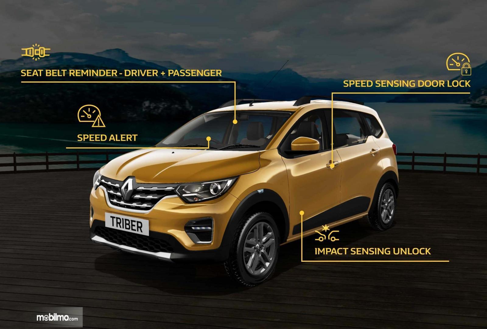 Gambar menunjukkan Fitur Keselamatan Renault Triber 2019