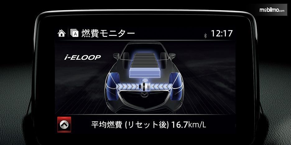 Gambar menunjukkan Layar LCD Mazda 2
