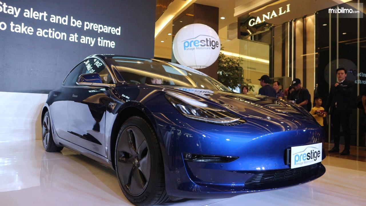 Foto Tesla Model 3 diluncurkan di Indonesia oleh Prestige Image Motorcars