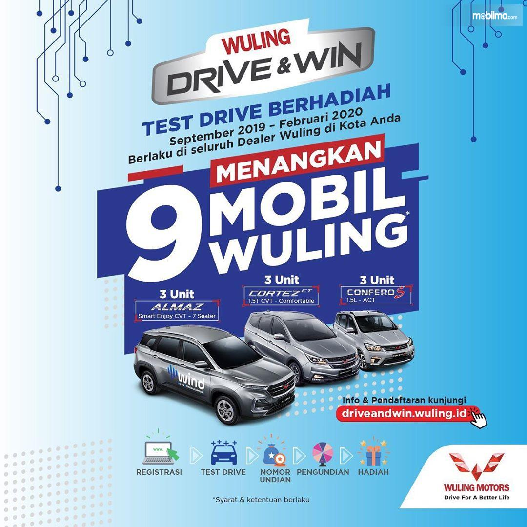 Banner program menarik Wuling DRIVE & WIN