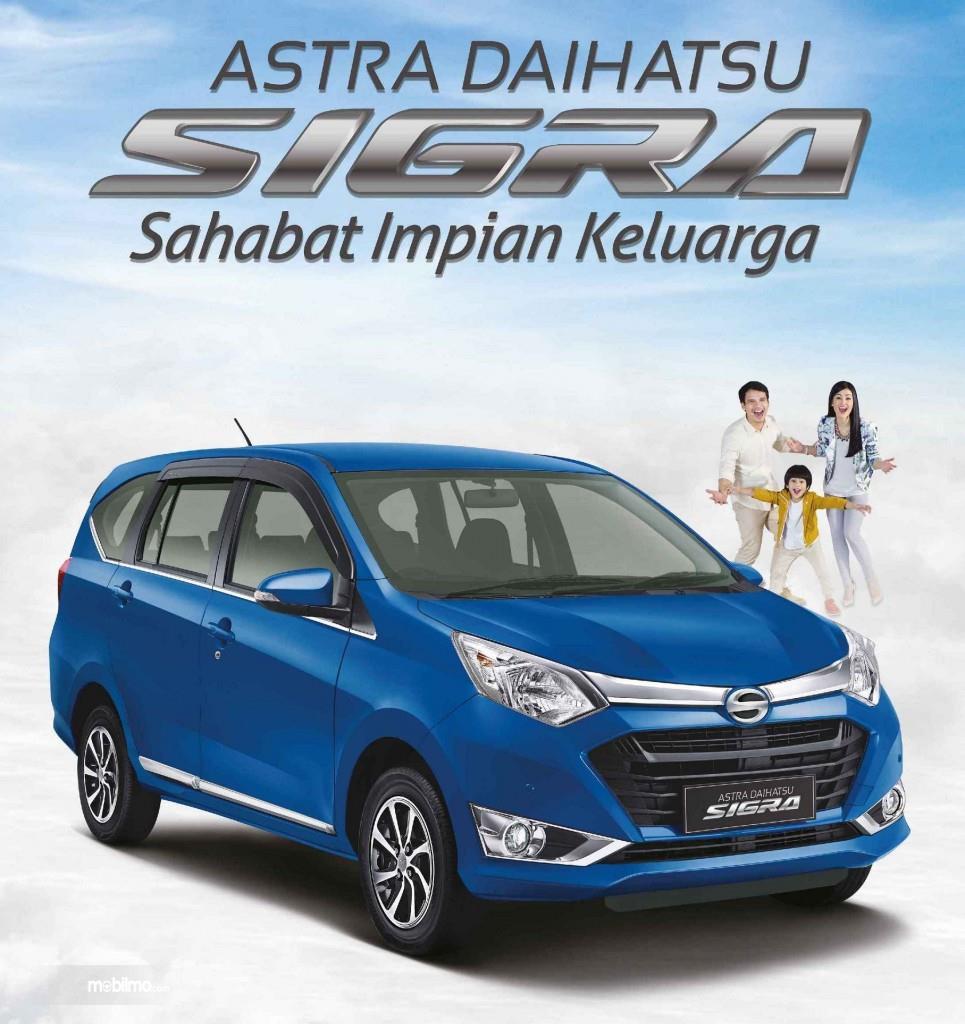 Banner Daihatsu Sigra 1.2 R AT Deluxe 2016 dengan slogannya, Sahabat Impian Keluarga