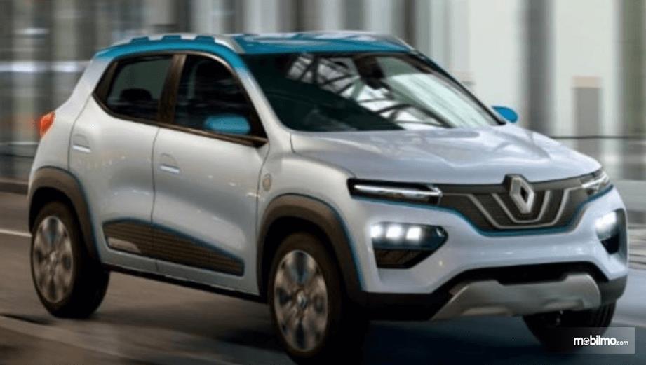 Gambar ini menunjukkan ilustrasi mobil listrik milik Renault