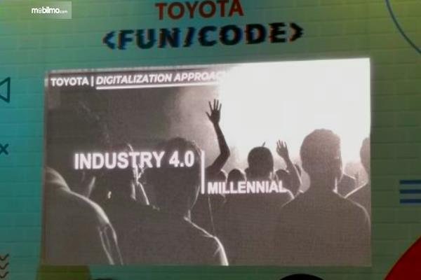 gambar ini menunjukkan salah satu informasi pada acara Toyota Fun/Code
