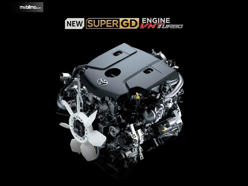 Foto menunjukkan Mesin Toyota HiAce Premio 2019
