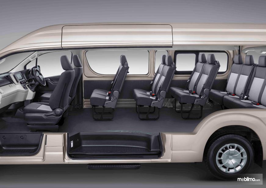 Foto konfigurasi kursi Toyota HiAce Premio 2019