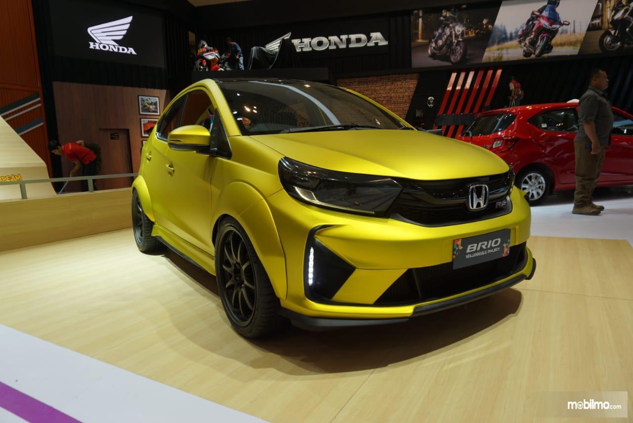 Foto Honda Brio Modifikasi saat tampil di acara IMX 2019
