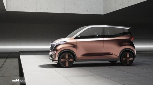 Eksterior Samping Nissan IMk Concept 2019 menggunakan pelek berdesain futuristik dan penuh filosofi Jepang