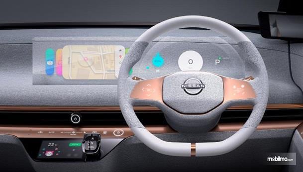 Setir Nissan IMk Concept 2019 punya tombol multifungsi yang dilengkapi tombol Digital