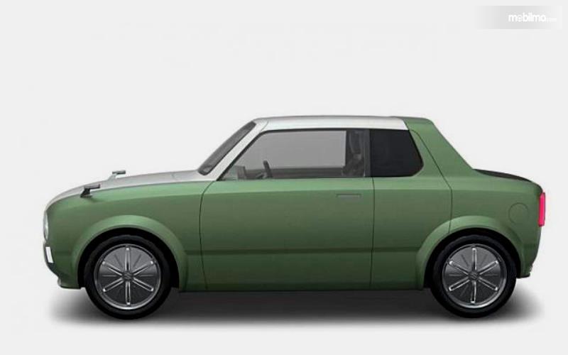 Gambar ini menunjukkan ilustrasi mobil konsep milik Suzuki