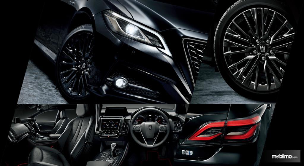 Gambar ini menunjukkan beberapa bagian pada mobil Toyota Crows Sport Style