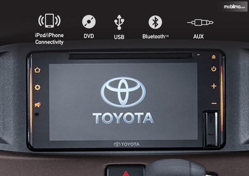 Foto Head unit 7 inchi Toyota Calya G AT 2019