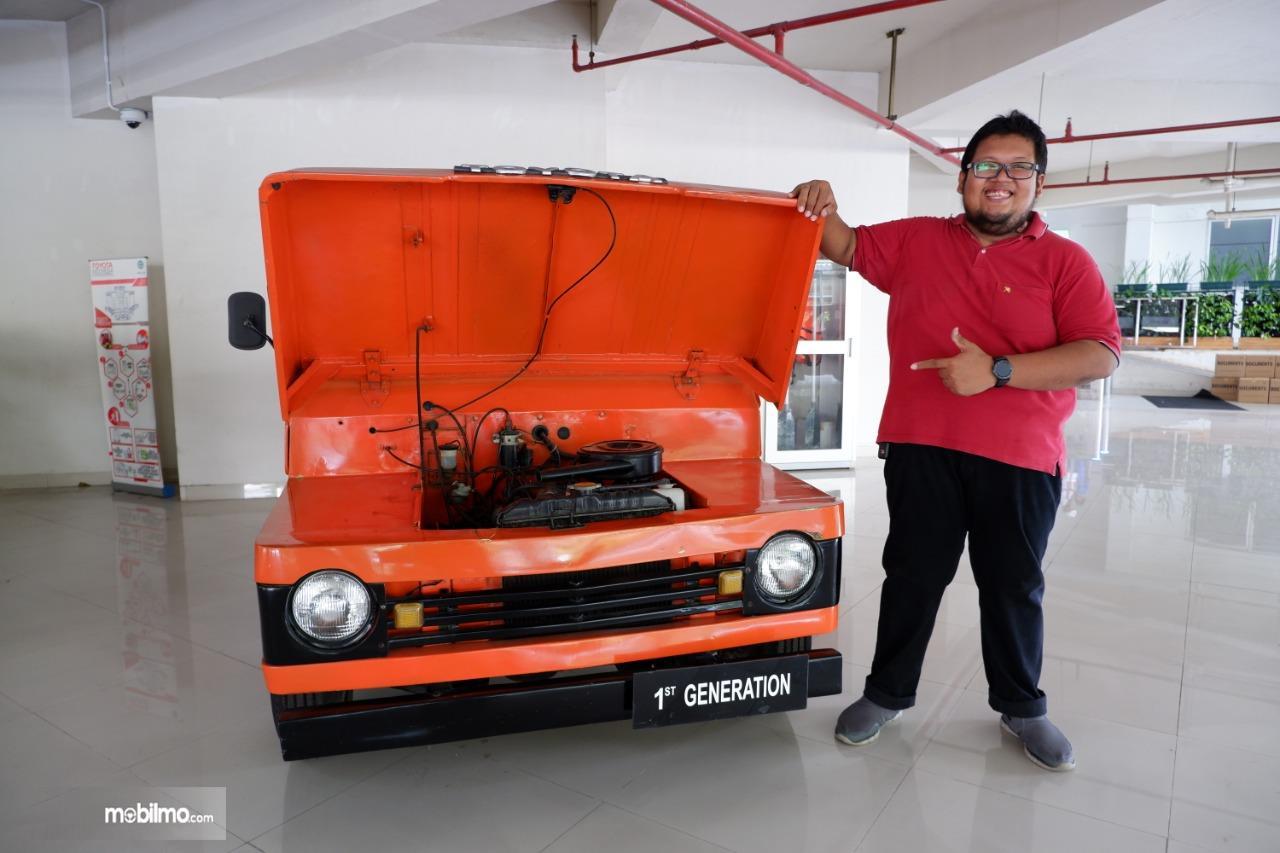Gambar menunjukkan mobil koleksi