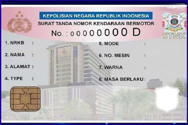 Gambar ini menunjukkan ilustrasi E-STNK