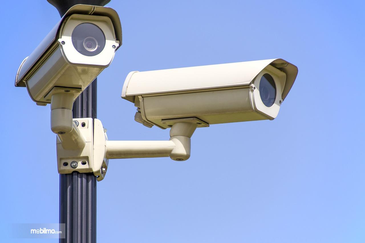 Foto kamera pengawas atau CCTV