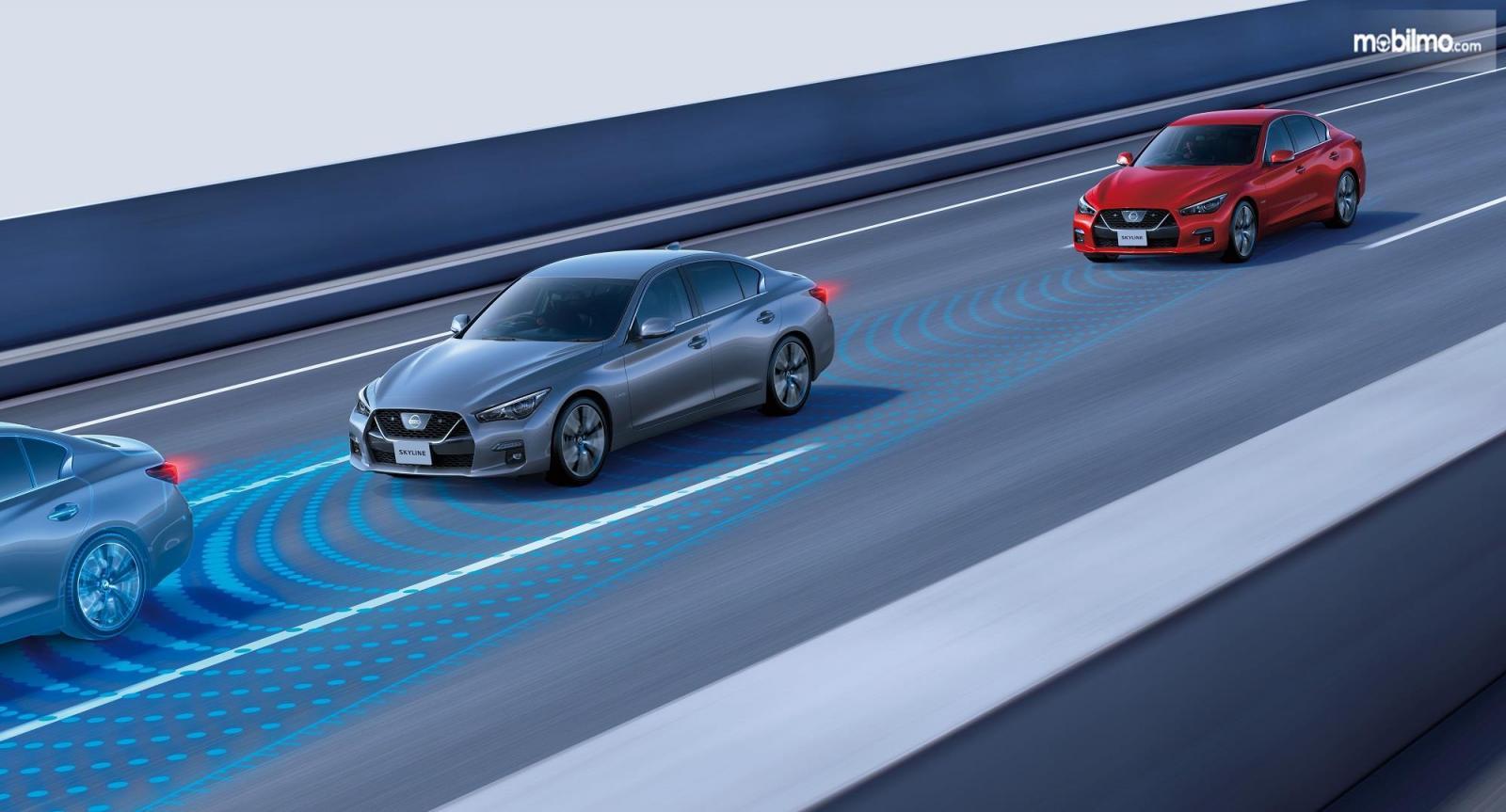 Gambaran teknologi ProPILOT 2.0 pada Nissan Skyline